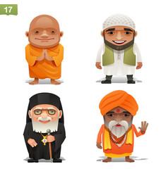 Religion professions set vector