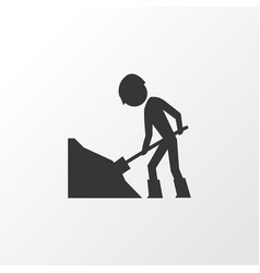 road work icon symbol premium quality isolated vector image