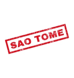 Sao Tome Rubber Stamp vector