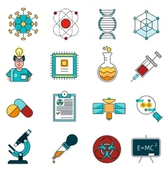 Science Line Icons Set vector image