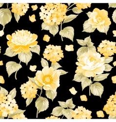 Seamless yellow flower pattern vector