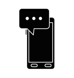 smartphone device with speech bubble vector image