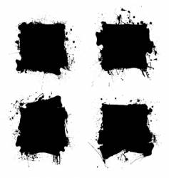 Square black ink splat vector
