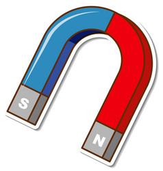 sticker horseshoe magnet on white background vector image