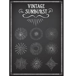Sunburst ray design Chalkboard doodle drawing vector