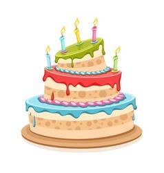 Sweet birthday cake vector