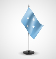 Table flag federated states micronesia vector