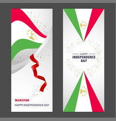 Tajikistan happy independence day confetti vector