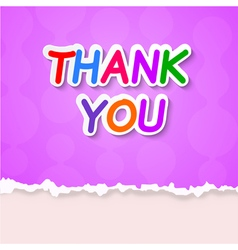 Thank plate on a purple background vector