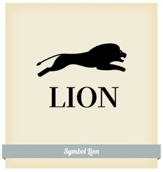 the symbol a lion jump vector image