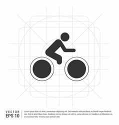 track cycling icon vector image