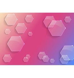 Transparent bright background concept vector image vector image