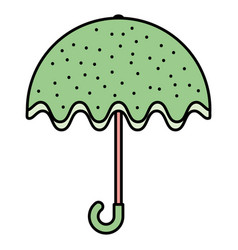 umbrella fashion accessory icon vector image
