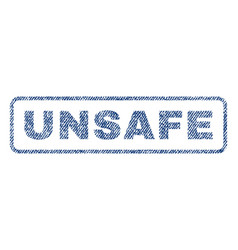 unsafe textile stamp vector image