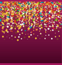 confetti explosion festival isolated vector image