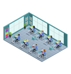 Garment Factory Isometric Composition vector image vector image