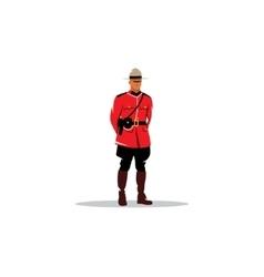 Mountie sign canada police vector