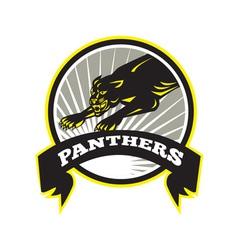 Panther Big Cat Growling vector image