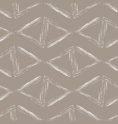 white triangles on a beige background vector image vector image
