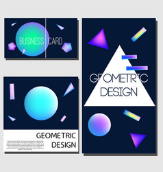 geometric cards cover design templates brochure vector image vector image