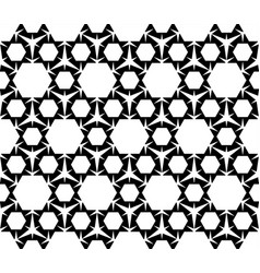 geometric seamless pattern black and white figure vector image vector image