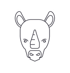 rhinoceros line icon sign on vector image