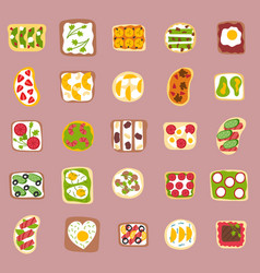 sweets dessert isolated food isolated vector image vector image