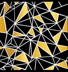 black white and gold foil geometric vector image vector image
