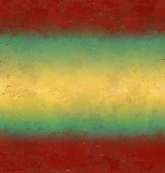 Grungy red and yellow background vector image vector image