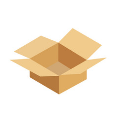 opened cardboard package box vector image vector image