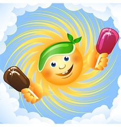 sun and ice cream vector image vector image