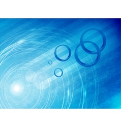 abstract circle and wave vector image vector image