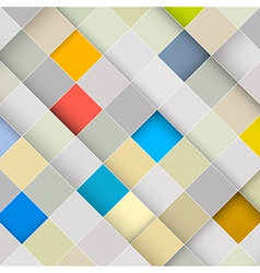 Abstract Square Retro Background vector image vector image