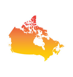canada map colorful orange vector image vector image