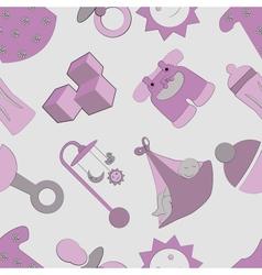 childhood pattern vector image