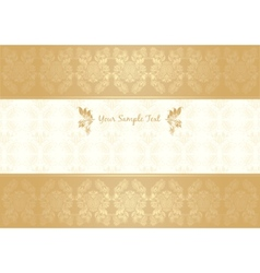 vector decorative frame gold vector image vector image
