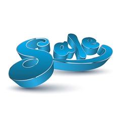 3D sale text vector image