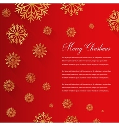Abstract Christmas card with snowflakes and vector image