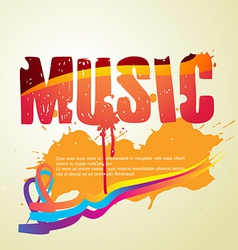 abstract music style vector image
