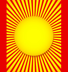 abstract sun background with rays beams vector image