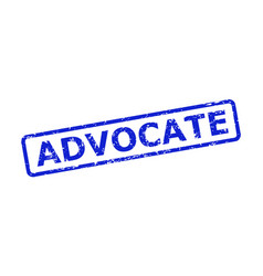 Advocate stamp with unclean style and rounded vector