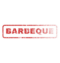 barbeque rubber stamp vector image