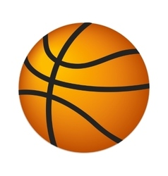 Basketball ball isometric 3d icon vector