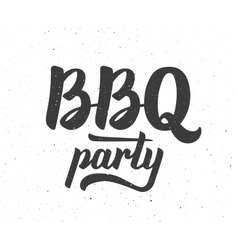 Bbq party logo barbeque text lettering label vector