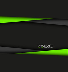black and green modern material design abstract vector image