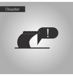 Black and white style icon ocean tsunami vector