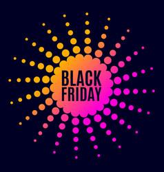 Black friday sale halftone dots vector