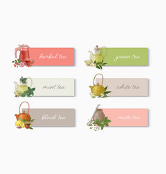 bundle of banner or label templates with various vector image