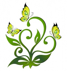 butterfly plant vector image