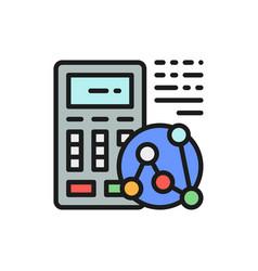 Calculator calculation daily calories vector